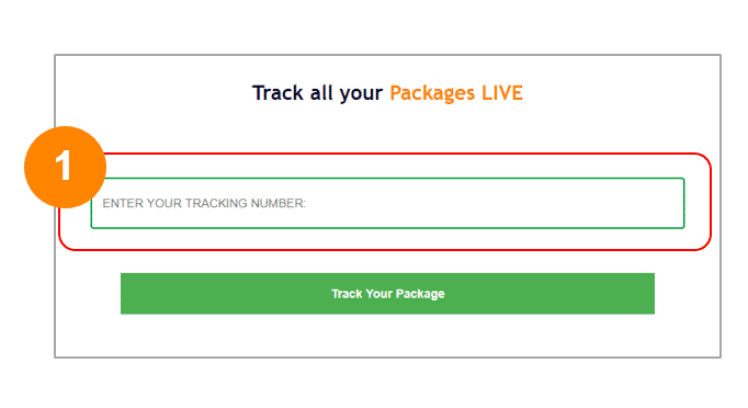 Step 1 Tracking Number Field