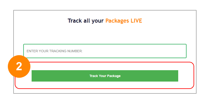 Step 2 The Package Tracking Button